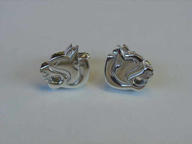 Wild beast animal head cufflinks
