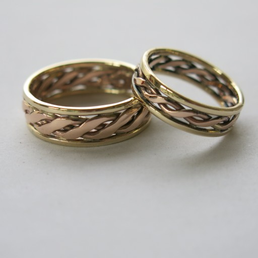 Gold twist rings